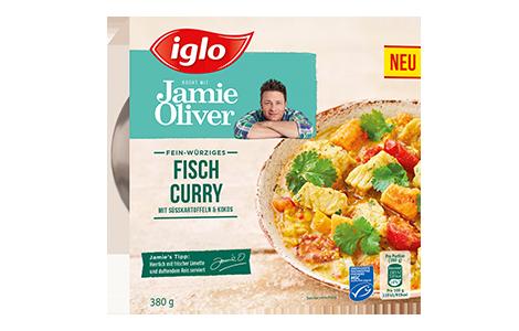Packung iglo Produkt iglo kocht mit Jamie Oliver Fisch Curry