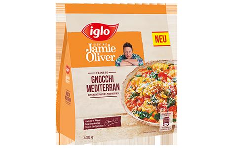 Tüte iglo Produkt iglo kocht mit Jamie Oliver Gnocchi Mediterran