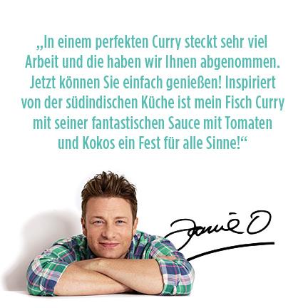 Fischcurry iglo & Jamie Oliver