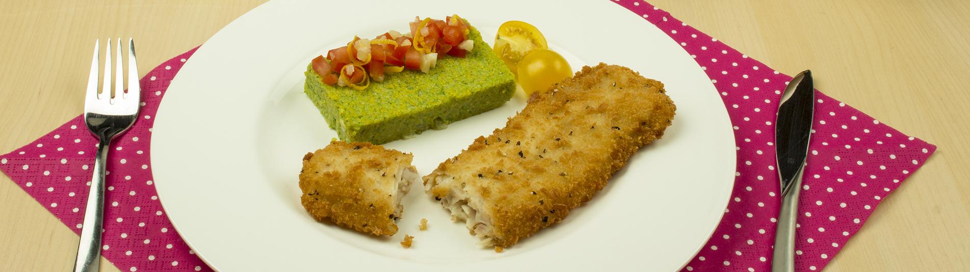 Iglo Ofenvariation mit Polenta Spinat