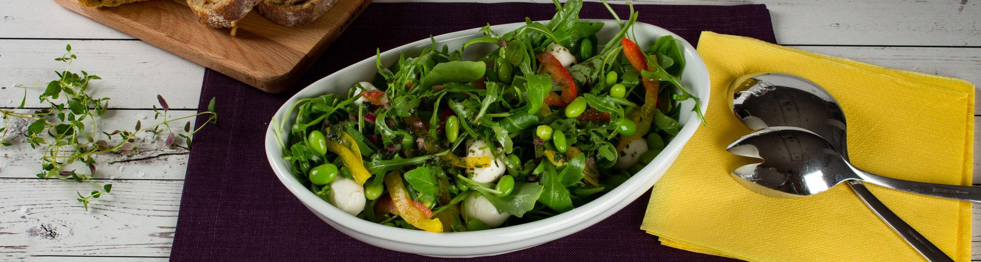 Iglo Rucola Salat verfeinert mit Mozarella