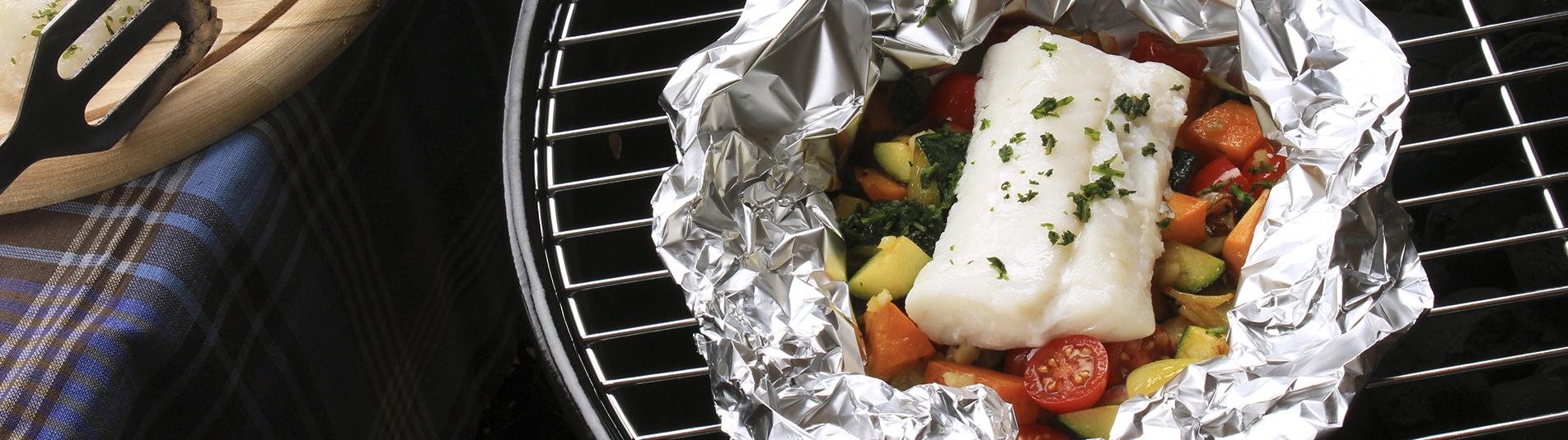 Iglo Fisch und Gemüse in Folie