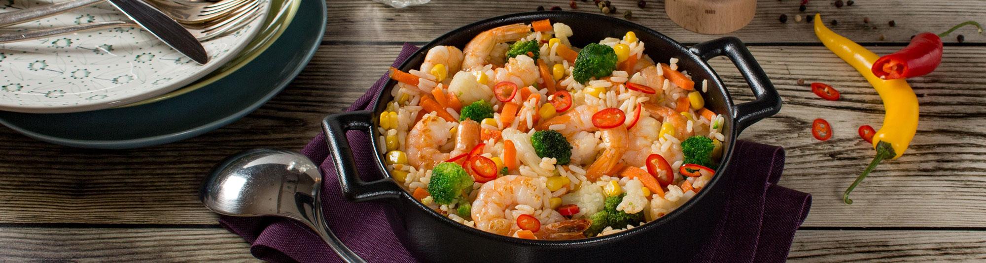 Iglo Reispfanne mit Farmers Gemüse