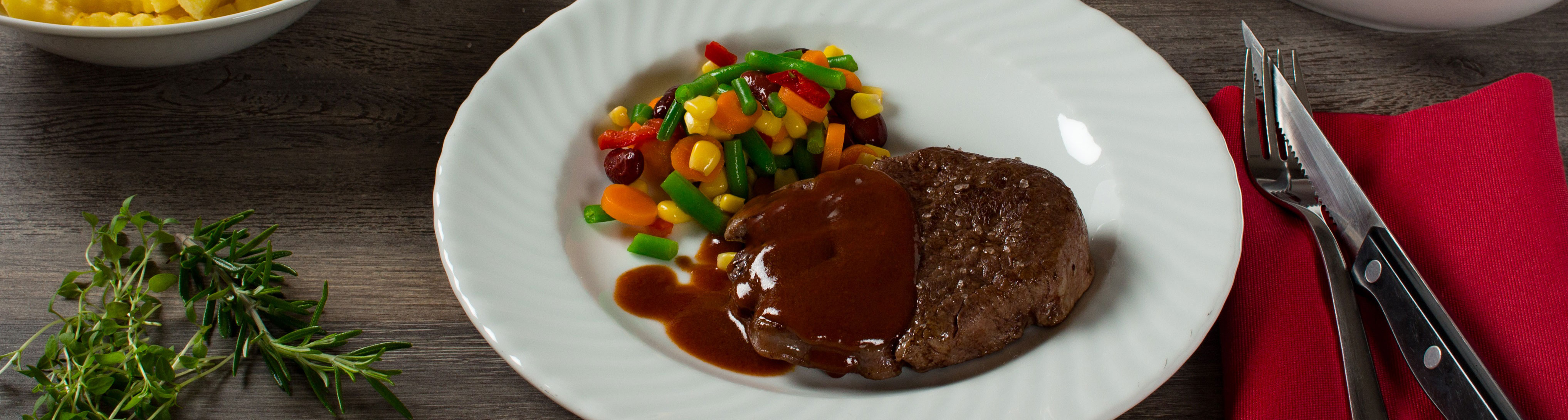 Iglo Steak mit Gemüse