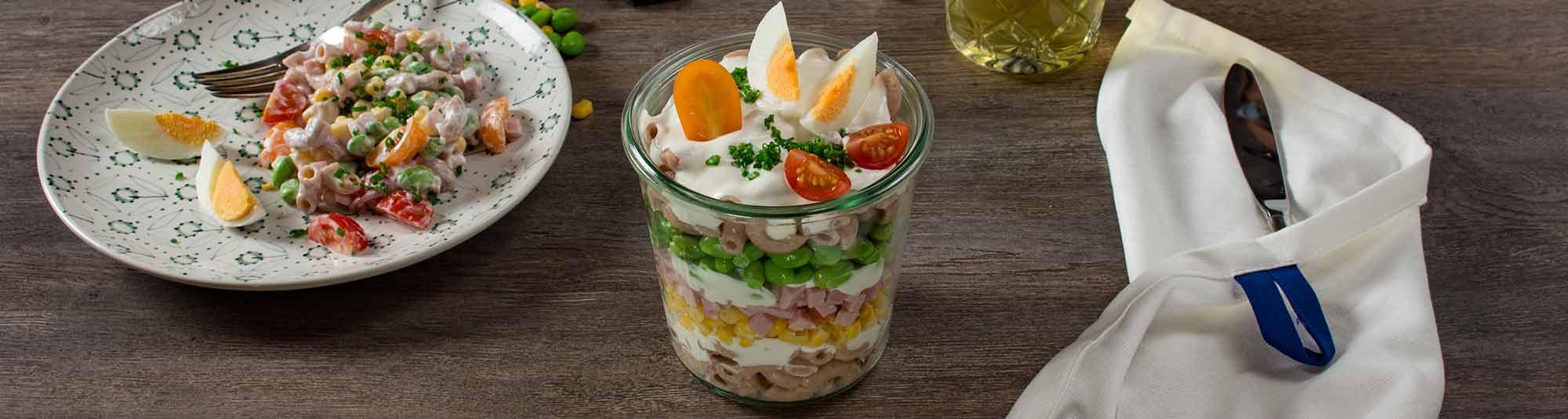 Iglo Schichtsalat mit knackigen Sojabohnen und Mais