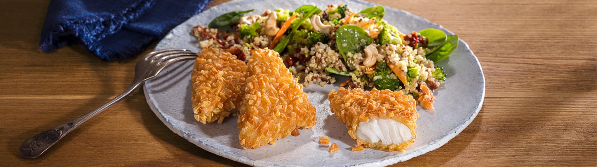 Fischrösti mit Quinoa