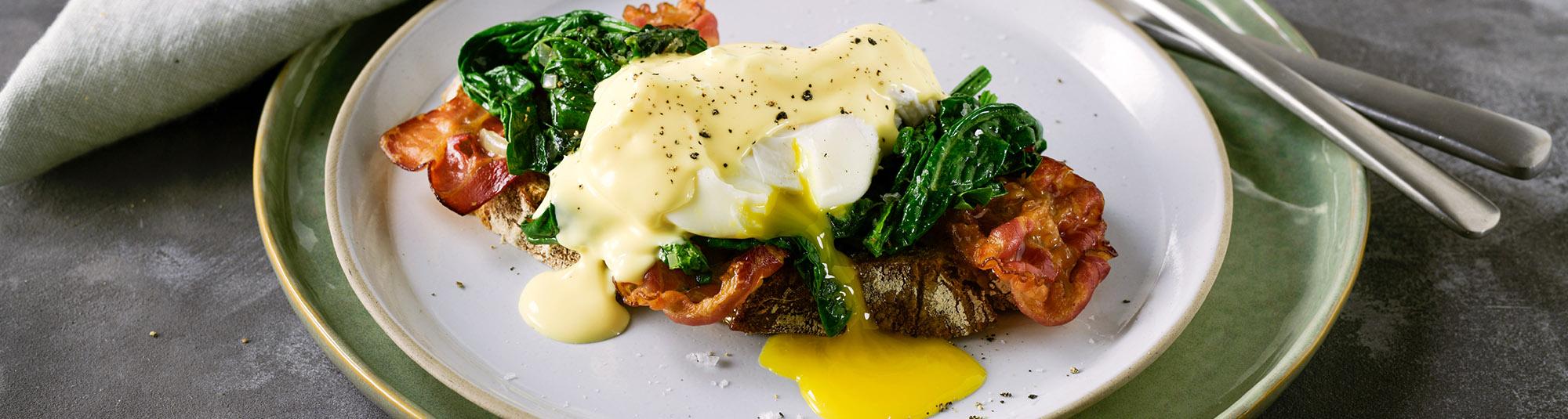 veg eggs benedict