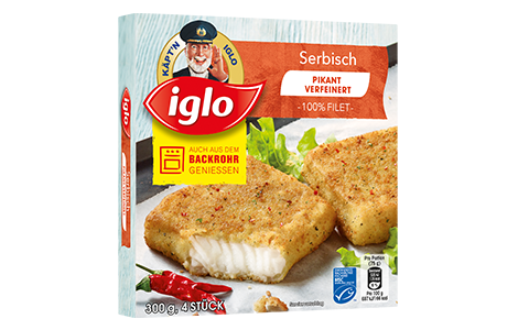 Iglo Sortiment Packungen Pazifischer Polar Dorsch Serbische Art