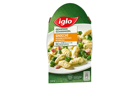 Iglo Sortiment Packungen Gnocchi