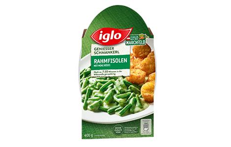 Iglo Sortiment Packungen Rahmfisolen