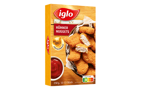 Hühner Nuggets 250g Packung