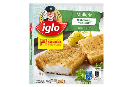 Packung iglo Produkt Traditionell verfeinert Müllerin