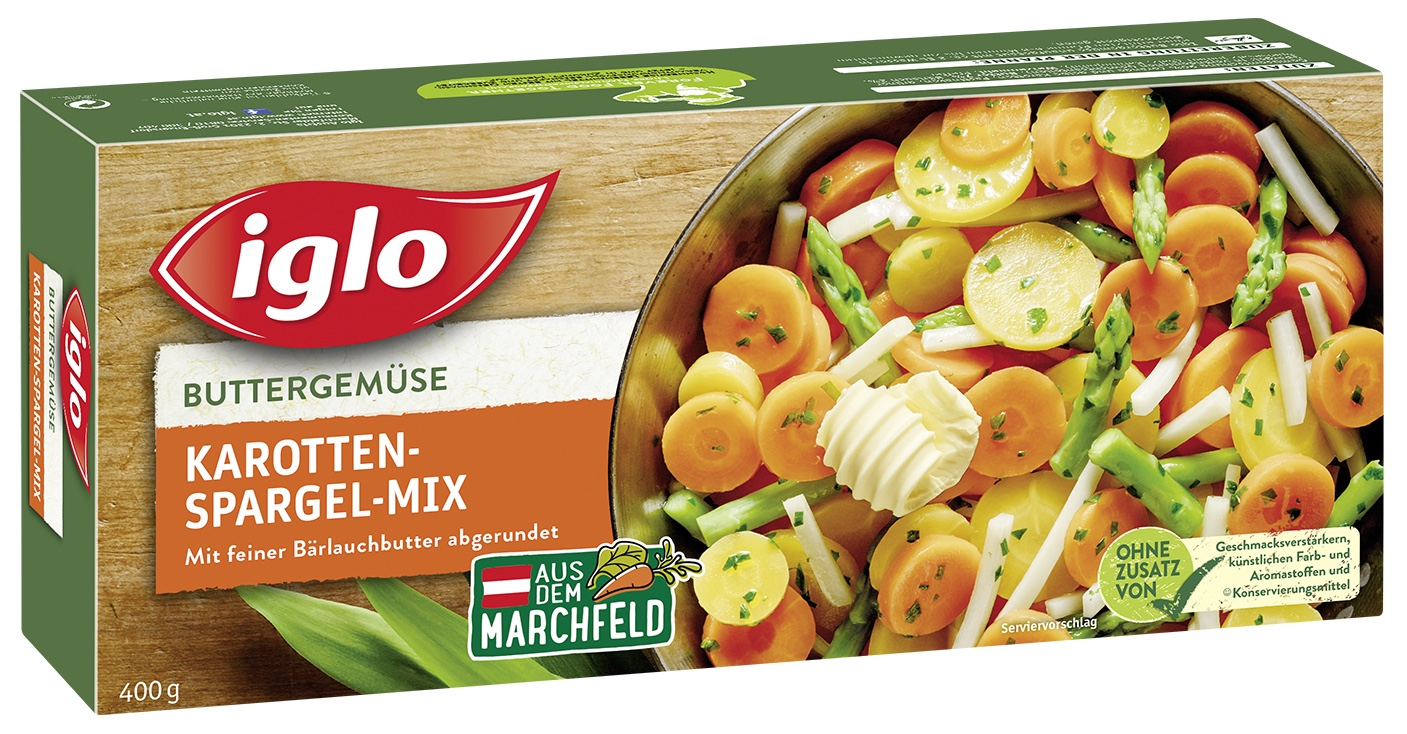 Buttergemuese Karotten Spargel Mix