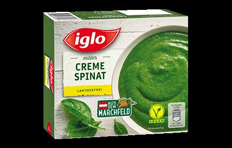 Iglo Cremespinat laktosefrei - jetzt Spinat ohne Laktose genießen.