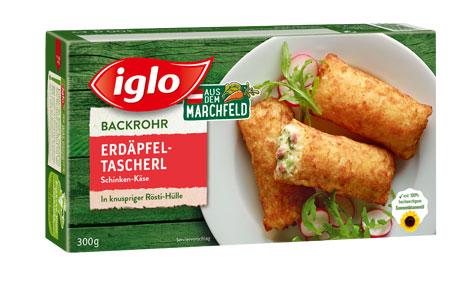 Iglo Erdäpfeltascherl Schinken-Käse