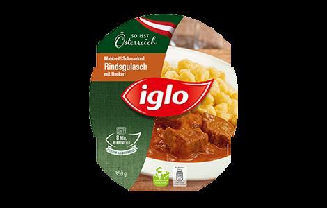 Iglo Rindsgulasch mit Nockerl