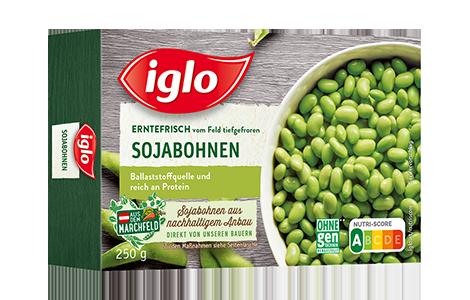 Iglo Sojabohnen Packung