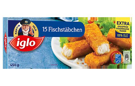 Fischstäbchen-Packshot