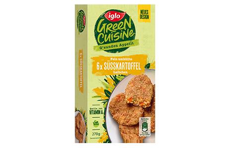 Iglo Sortiment Packungen Suesskartoffel-Laibchen