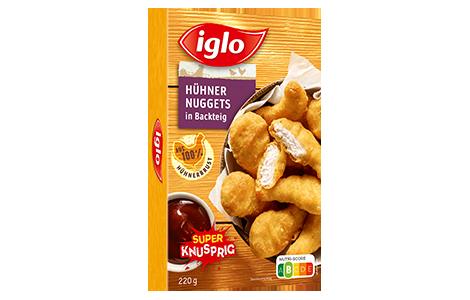 Hühner Nuggets in Backteig Packung