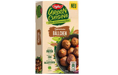Packung iglo Produkt Green Cuisine Vegetarische Bällchen