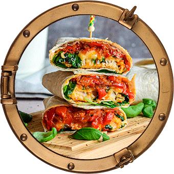 Wrap met Kombino Tomaat & Mozzarella