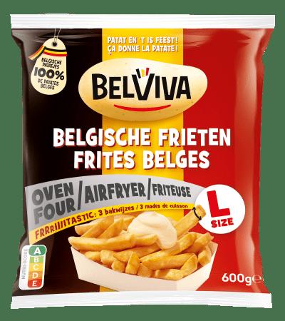 verpakking Belviva belgische frieten 3 manieren van bereiden