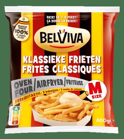 emballage Belviva frites classique 3 mode de preparations