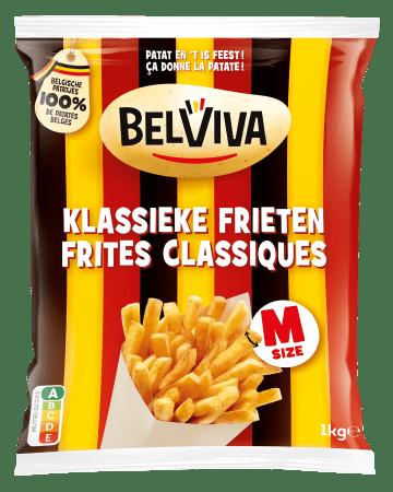 verpakking Belviva klassieke frieten 1kg
