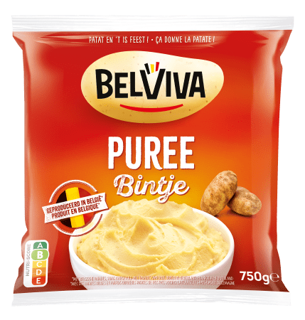 emballage Belviva puree bintje 750g