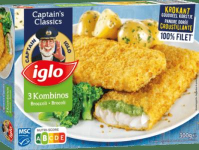 emballage kombinos brocoli 3 pièces de captain iglo