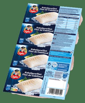 verpakking captain iglo kabeljauw filets 440g
