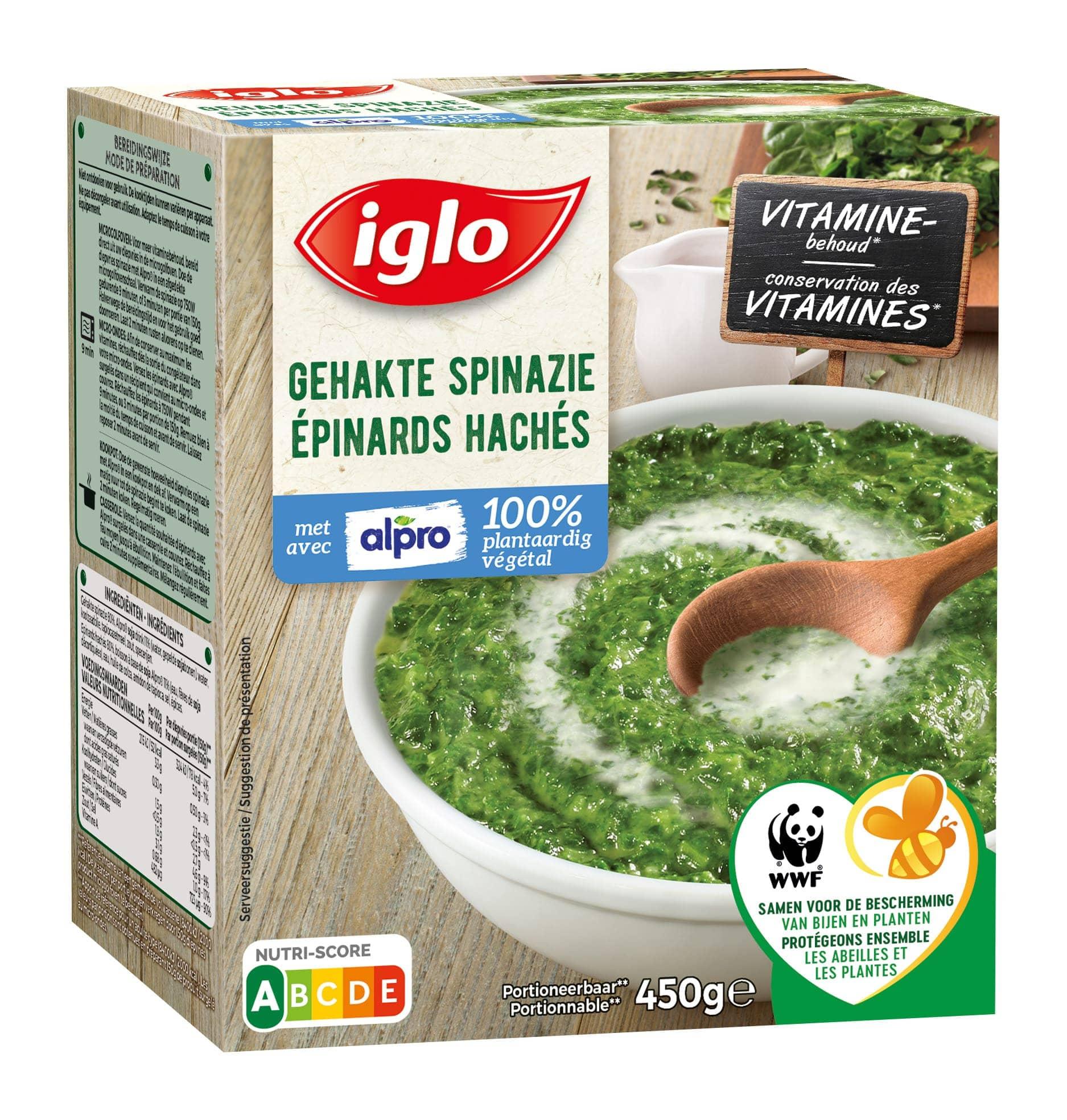 Gehakte spinazie met Alpro