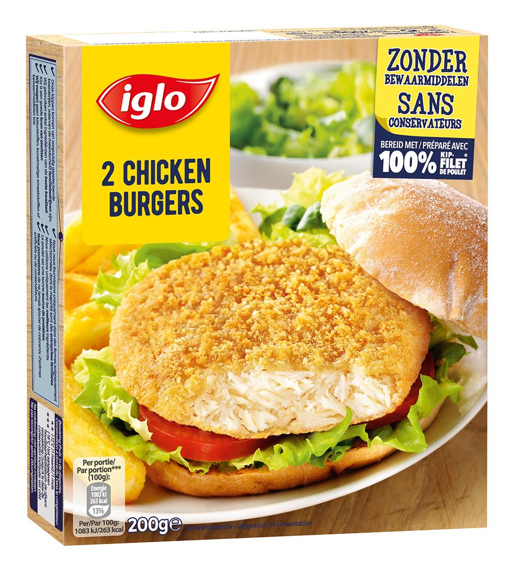 2 chicken burger