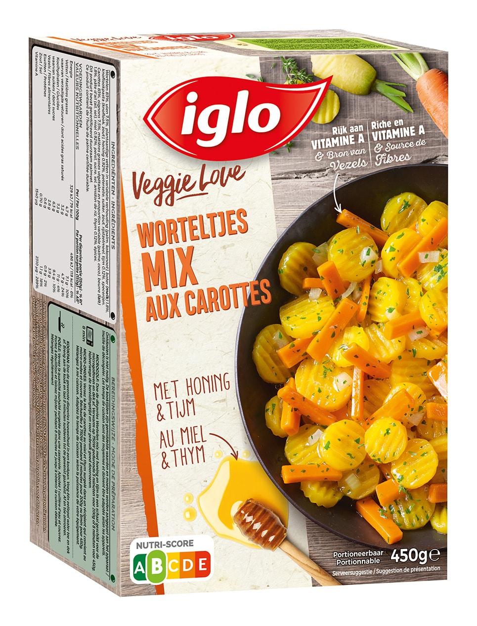 Mix de carottes avec miel et thym