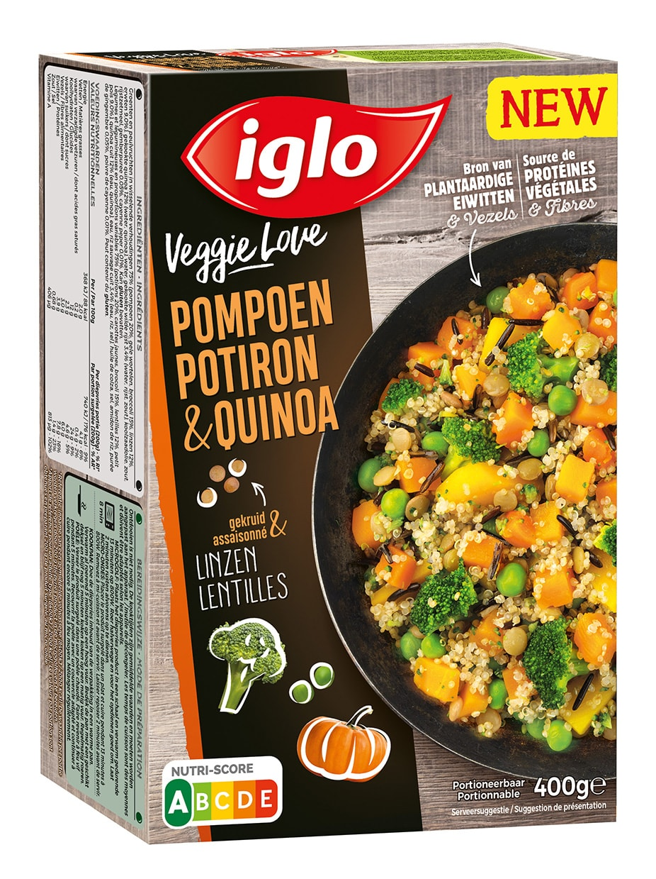 iglo potiron quinoa