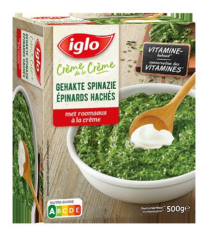 gehakte spinazi verpakking