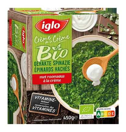 gehakte spinazi met roomsaus bio