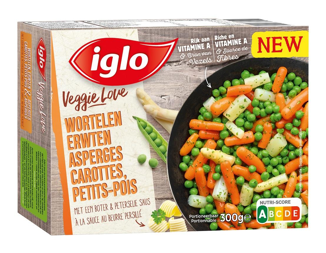 veggie love wortelen erwten asperges verpakking