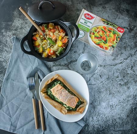 groente risotto zet zalm