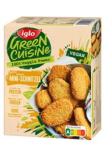 Packshot Green Cuisine vegane Mini-Schnitzel