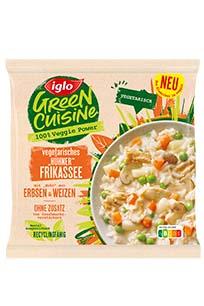 Verpackung vegetarisches Huehnerfrikassee