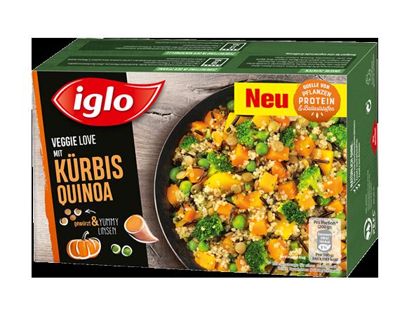 iglo Veggie Love Kürbis Quinoa Verpackung