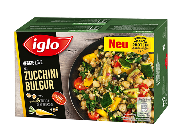 iglo Veggie Love Zucchini Bulgur Verpackung