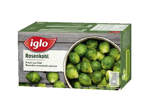 Verpackung iglo Rosenkohl