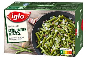 iglo Gemüse-Ideen Grüne Bohnen mit Speck