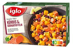 iglo Gemüse-Ideen Kürbis & Süßkartoffeln