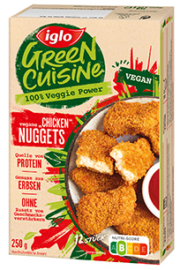 Packshot vegane Chicken Nuggets