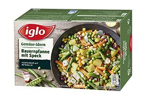 Produktverpackung Gemüse-Ideen Bauernpfanne mit Speck