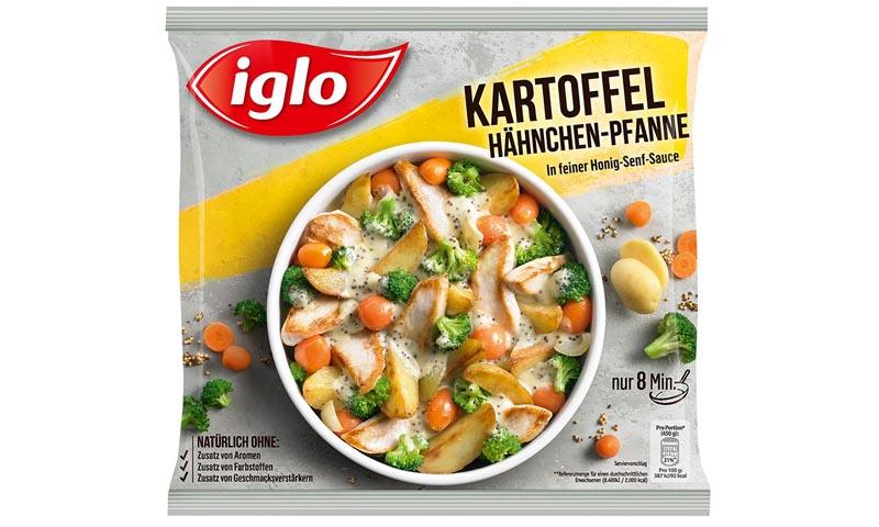 iglo produktverpackung kartoffel haehnchen pfanne